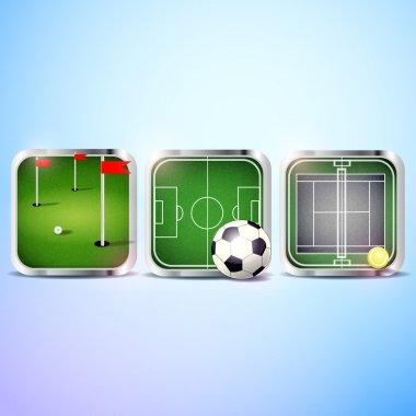 Set of vector sport icons stock vector