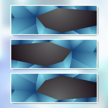 Vector set of web banners stock vector