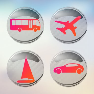 Set of vacation and travel icons. Vector icon set stock vector