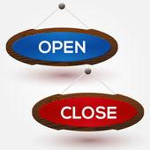 otevřené a uzavřené známky.