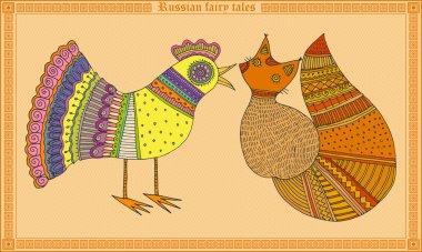 Russian fairy tales animal stock vector