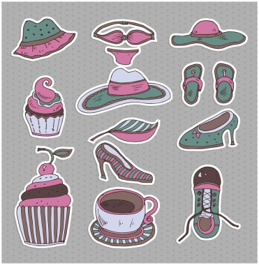 Set of a piece of clothes stock vector