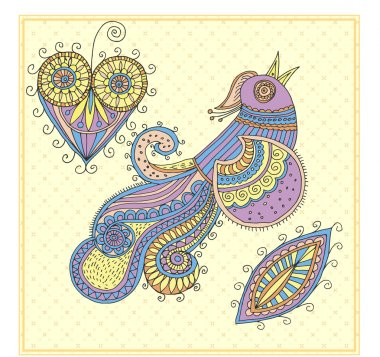 Fire-bird, vector illustration stock vector