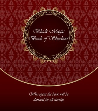 Vintage background, vector gold and red template stock vector