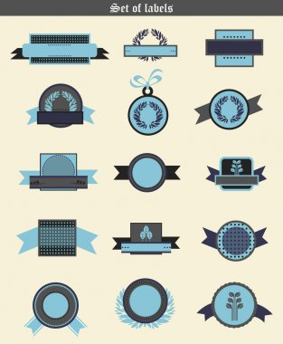 Wheat labels and badges. Vector retro elements for design stock vector