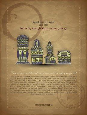 Cartoon castle towers vector illustration stock vector