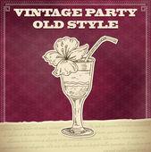 Vintage fél poszter-koktél