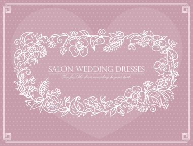 Label for wedding dresses salon stock vector