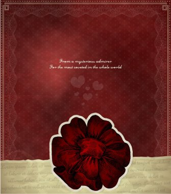 Vector vintage background with red bow stock vector