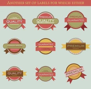 Retro vector labels and badges stock vector
