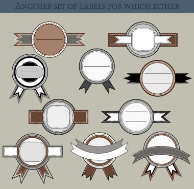 Set of different labels in retro style stock vector