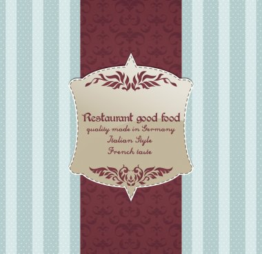 Restaurant menu design. Vector stock vector
