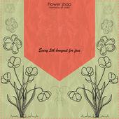 Vektor Blumengeschäft Banner