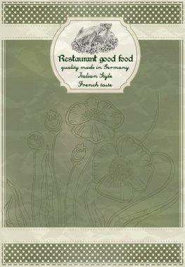 Restaurant menu design in a retro style stock vector