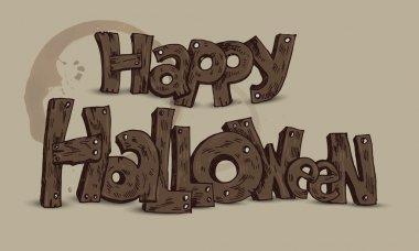 Happy Halloween card. Vector illustration stock vector