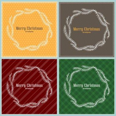 Set of Christmas frames. Vector illustration stock vector