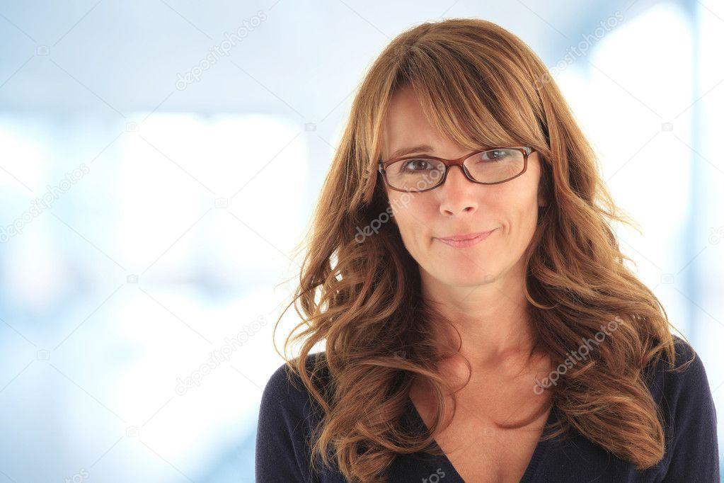 Modern attractive business woman