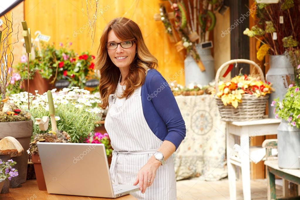 Small Business Flower Shop Owner