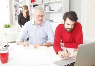 Business team in architect studio