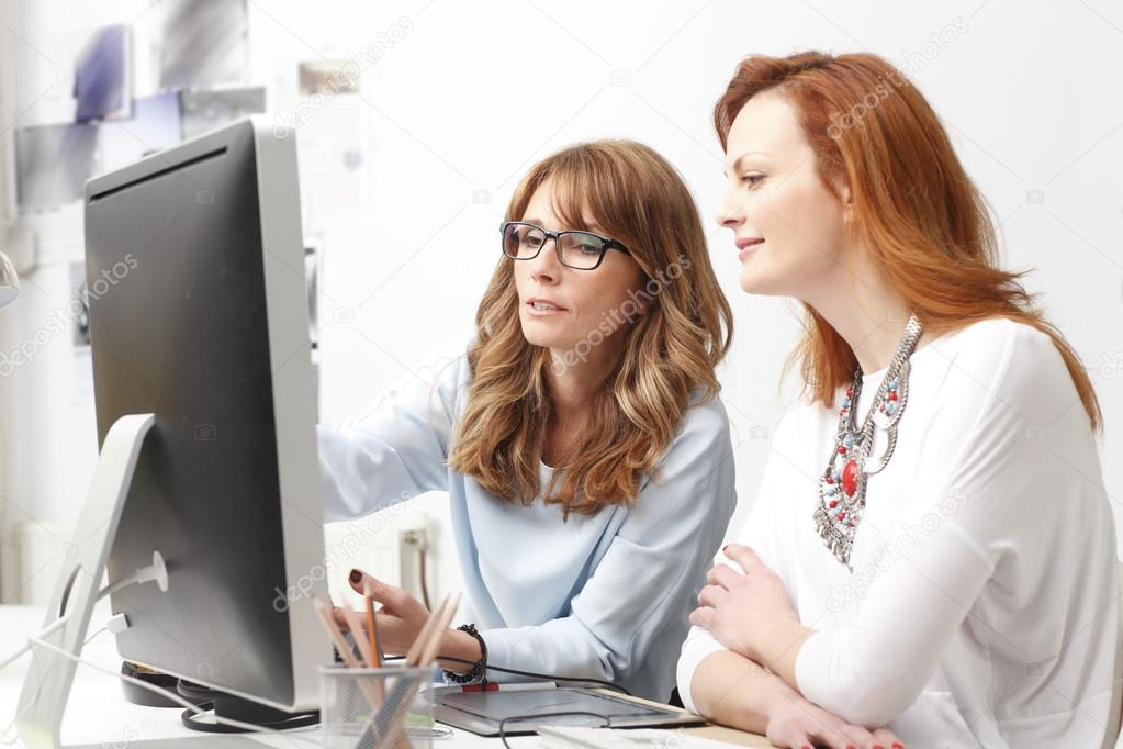 Graphic designer women in office