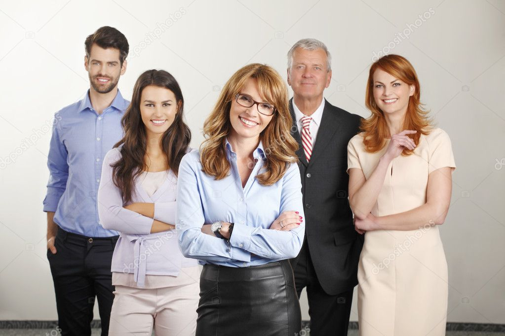 Happy business people group