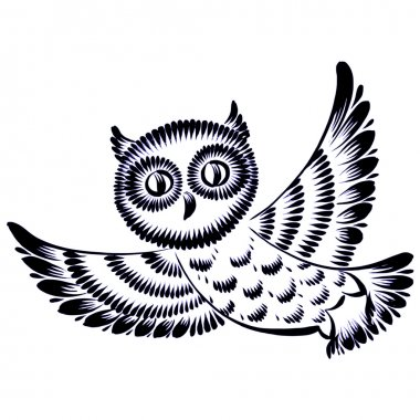 silhouette of a flying owl