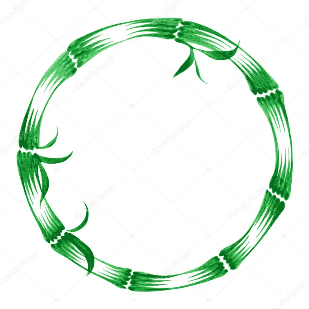decorative circle bamboo