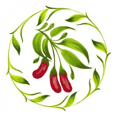 decorative ornament red berries