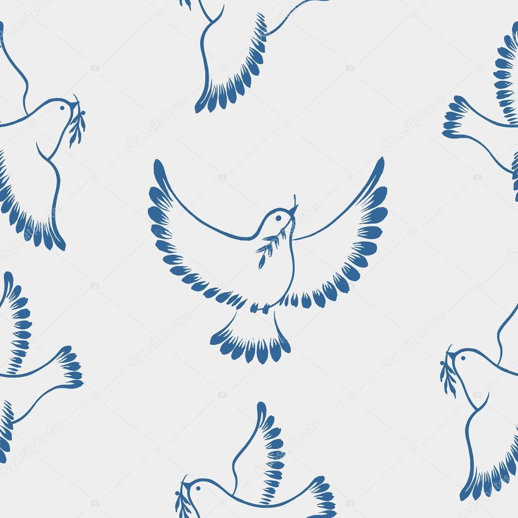 Вектор голубь 7