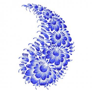 Floral decorative ornament paisley