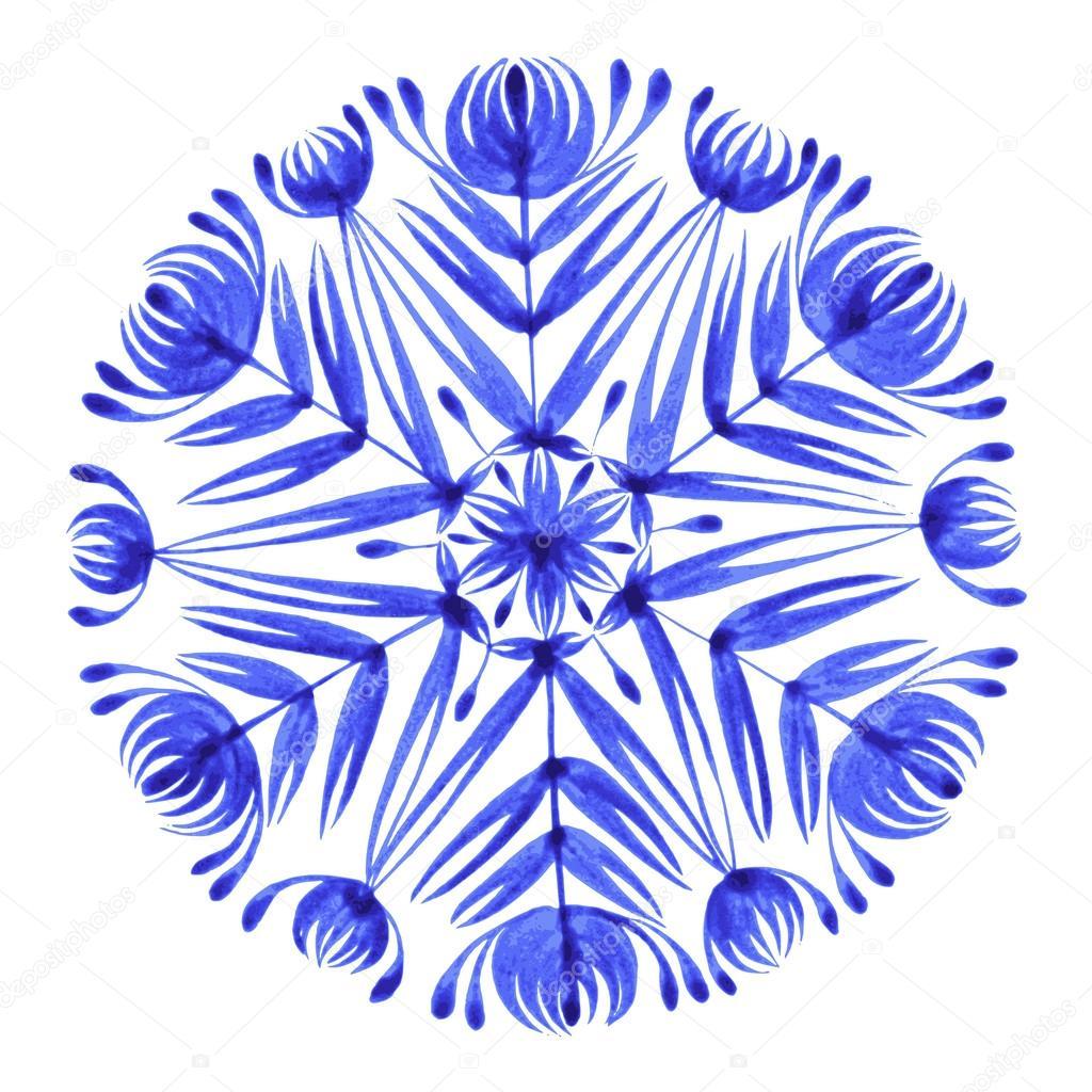 floral decorative ornament snowflake