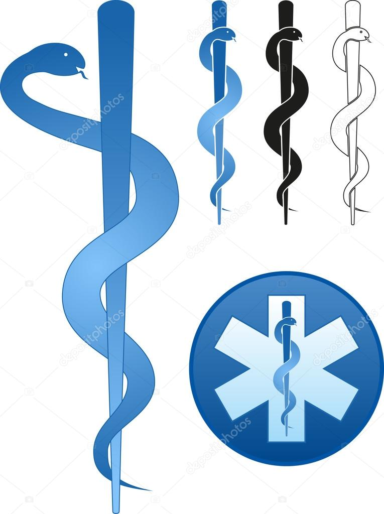 Rod Of Asclepius Stock Vectors Royalty Free Rod Of Asclepius