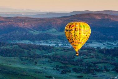 Hot Air Balloon At Sunrise