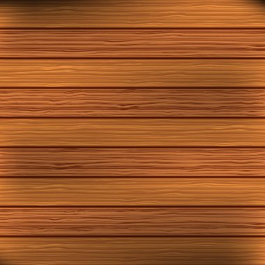 Wood plank brown texture background. Vector