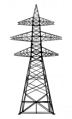 Power transmission tower.