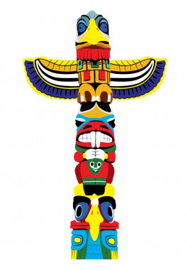 Colorful totem pole. Vector EPS10.
