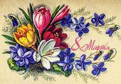 Postcard celebration International Womens Day March 8