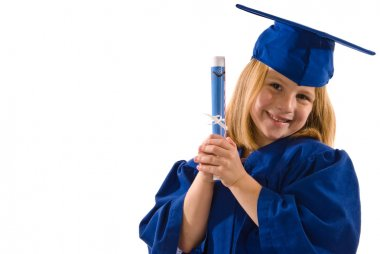 Young Graduate Holding a Diploma or Certificate