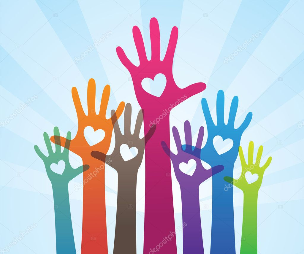 People giving support hand