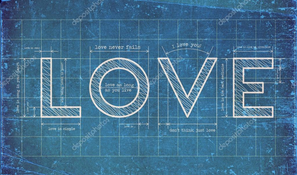 Abstract love blueprint with love quotes stock photo 4tomania abstract love blueprint with love quotes photo by 4tomania malvernweather Images