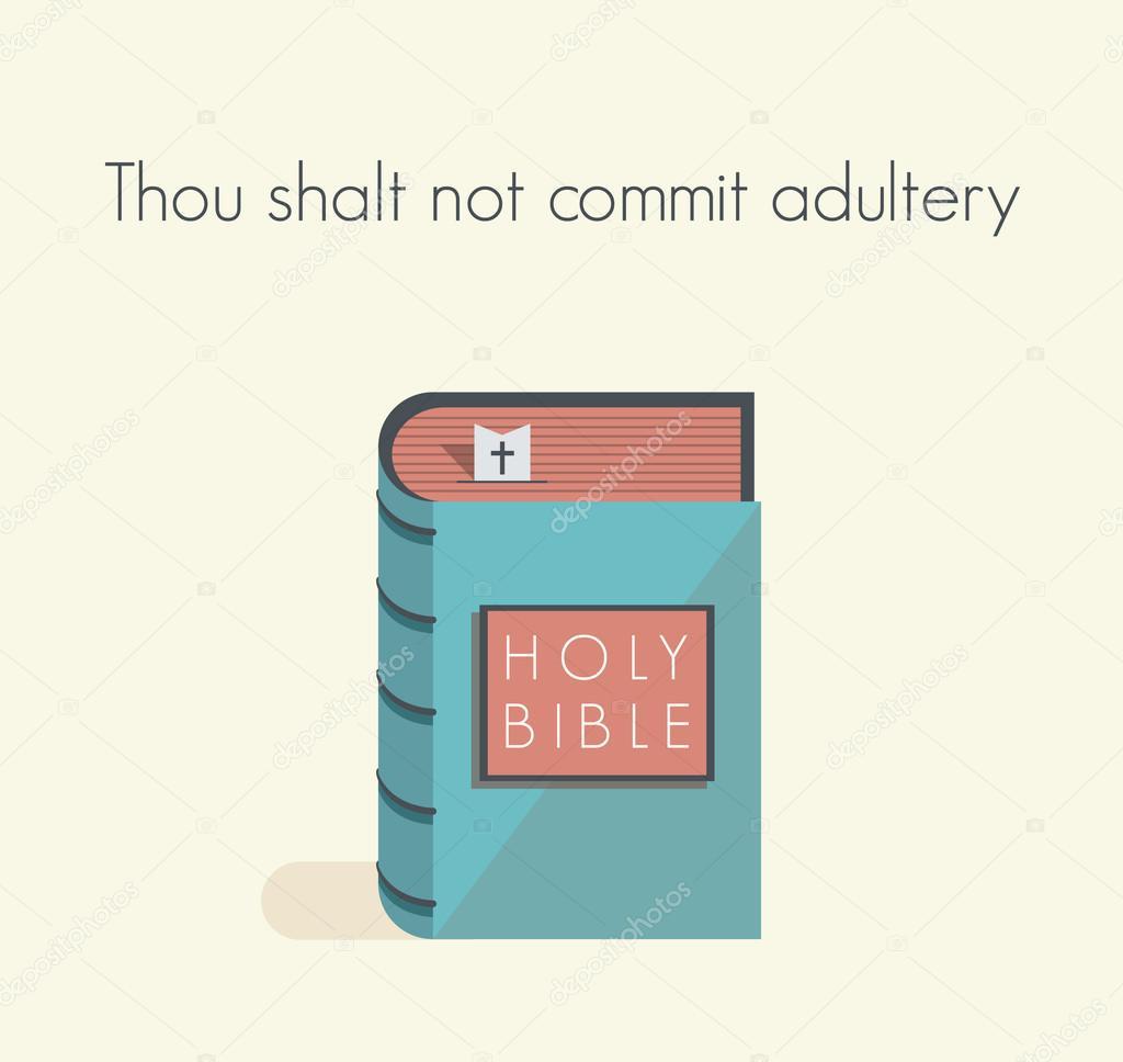 Holy Bible commandment  Thou shalt not commit adultery — Stock