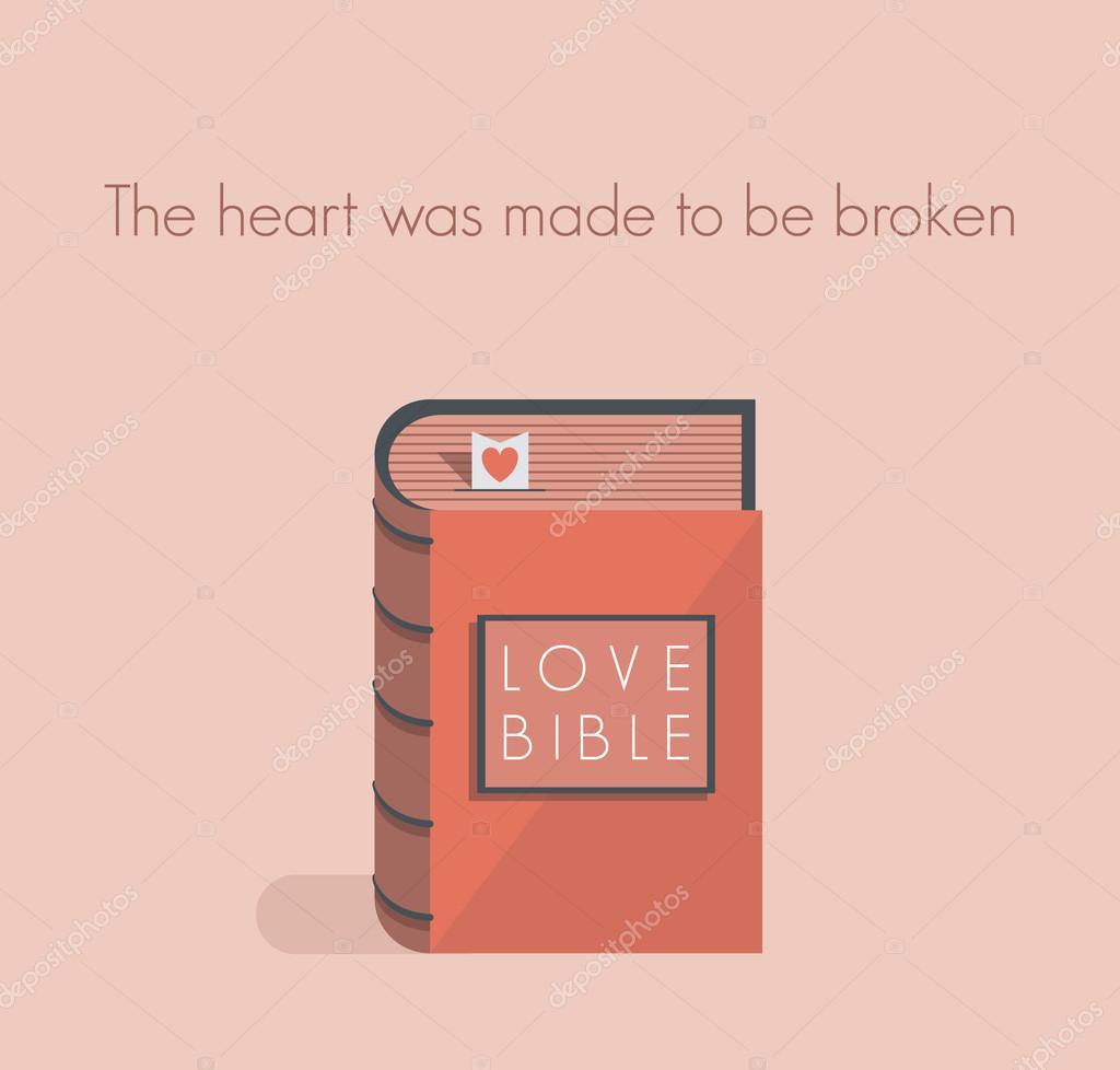 Citaten Over Liefde Uit De Bijbel : Liefde bijbel met rood hart bladwijzer concept voor liefde