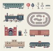 Fotografie Vector train set
