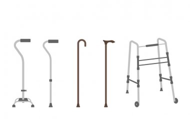 Set of senior walking sticks