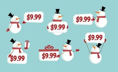 Snow man price tag