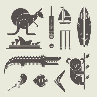 Australia icons