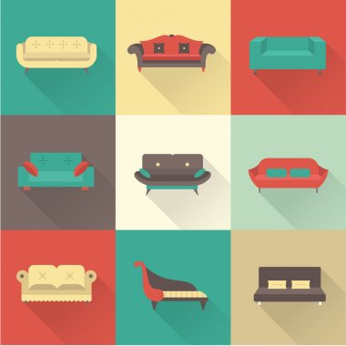 Vector sofa icons
