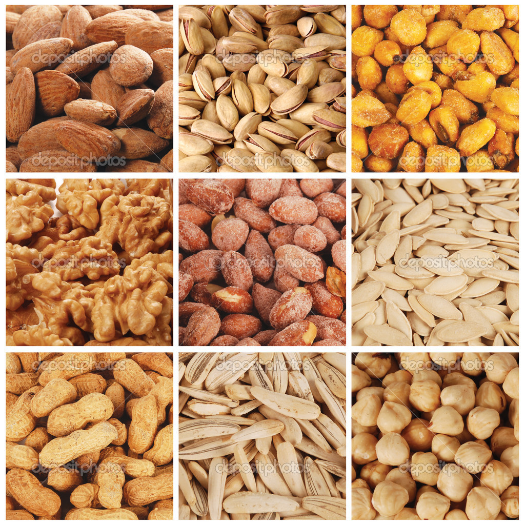 olika sorters nötter