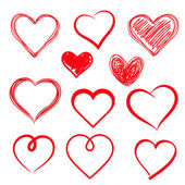 Fotografie Vector hearts set. Hand drawn.