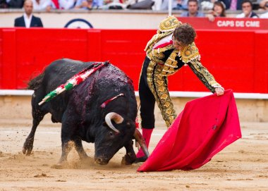 Jose Tomas bullfighting in Barcelona